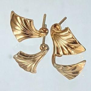 Vintage Gold Toned Stud Earrings